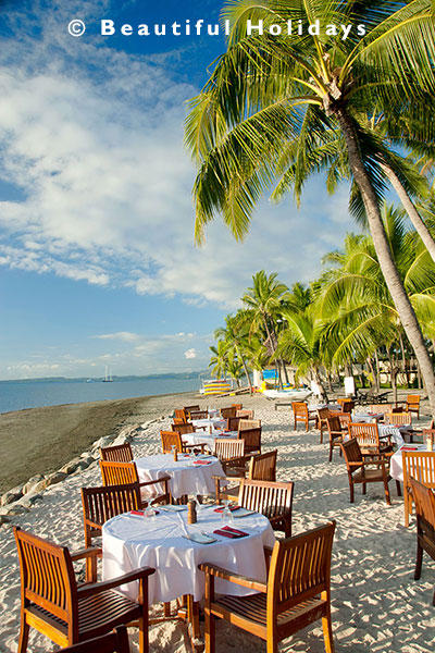 beach restaurant on denarau island
