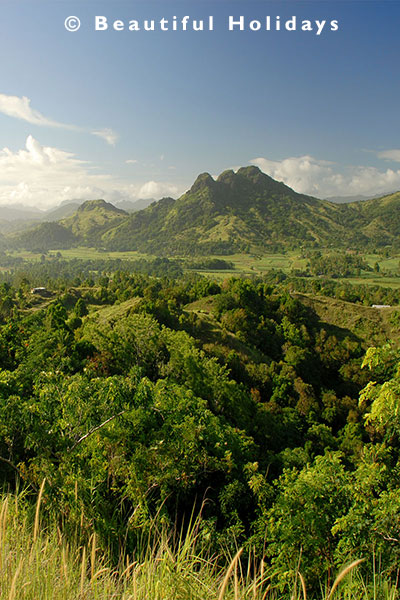 picturesque hills in labasa
