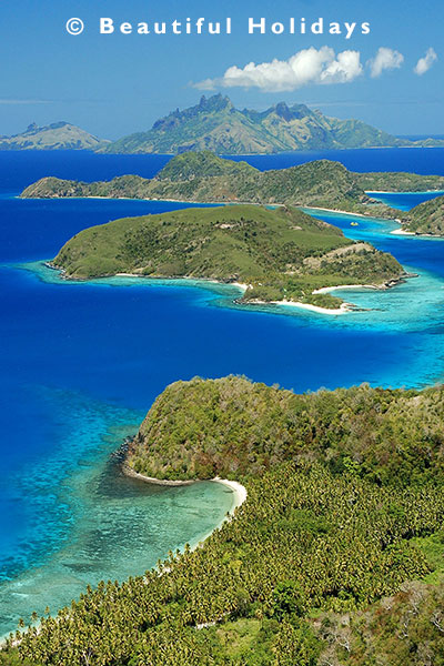 view over the yasawa islands