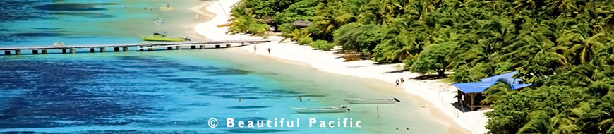 picture of beach holiday in fiji islands