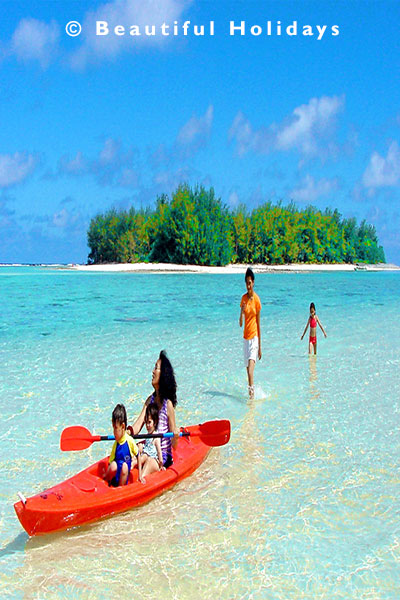 muri beach in the cook islands