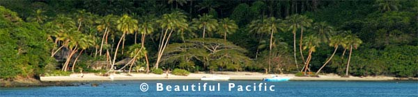 a secluded beach resort in the south pacific