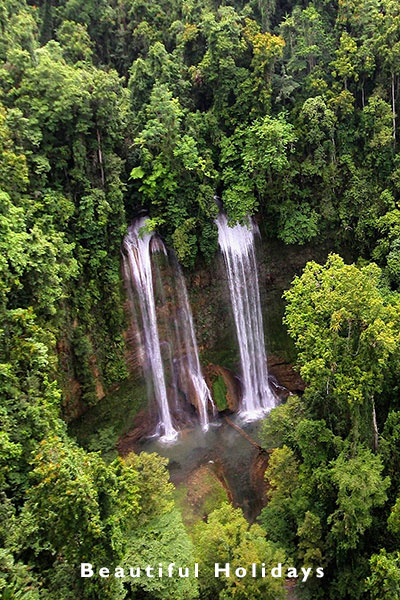 view ofwaterfall on guadalcanal