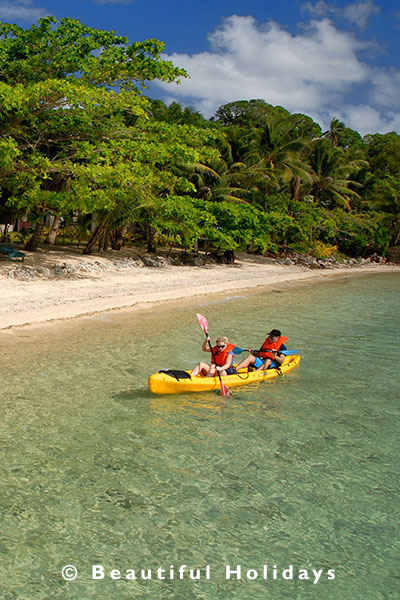 kayaking on vavau island