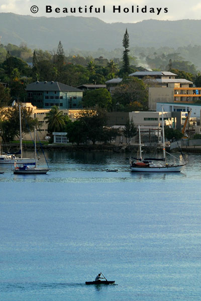 the waterfront in port vila ton